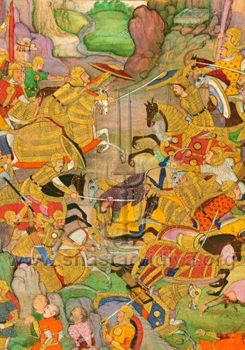 Folio from Baburnamah, circa 15th century, India